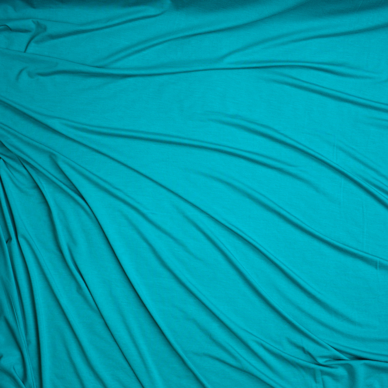 c56d96eb7f1 ... Aqua Stretch Modal Jersey Knit Fabric By The Yard - Wide shot