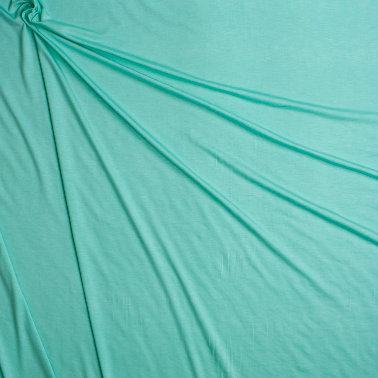 5797268edef ... Mint Green Stretch Modal Jersey Knit Fabric By The Yard - Wide shot