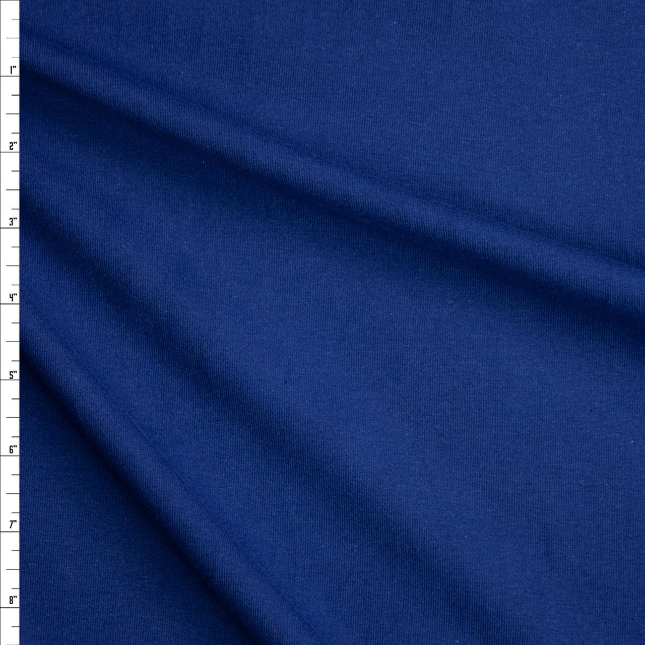 Cali Fabrics Navy Blue Stretch Midweight Cotton Jersey Knit Fabric