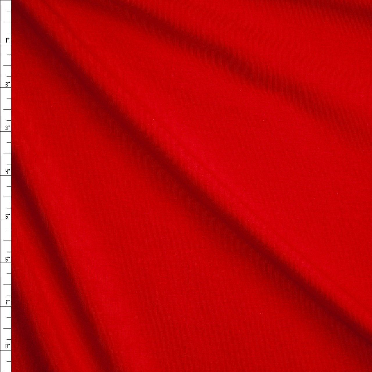 Cali Fabrics Red Stretch Midweight Cotton Jersey Knit Fabric By The Yard
