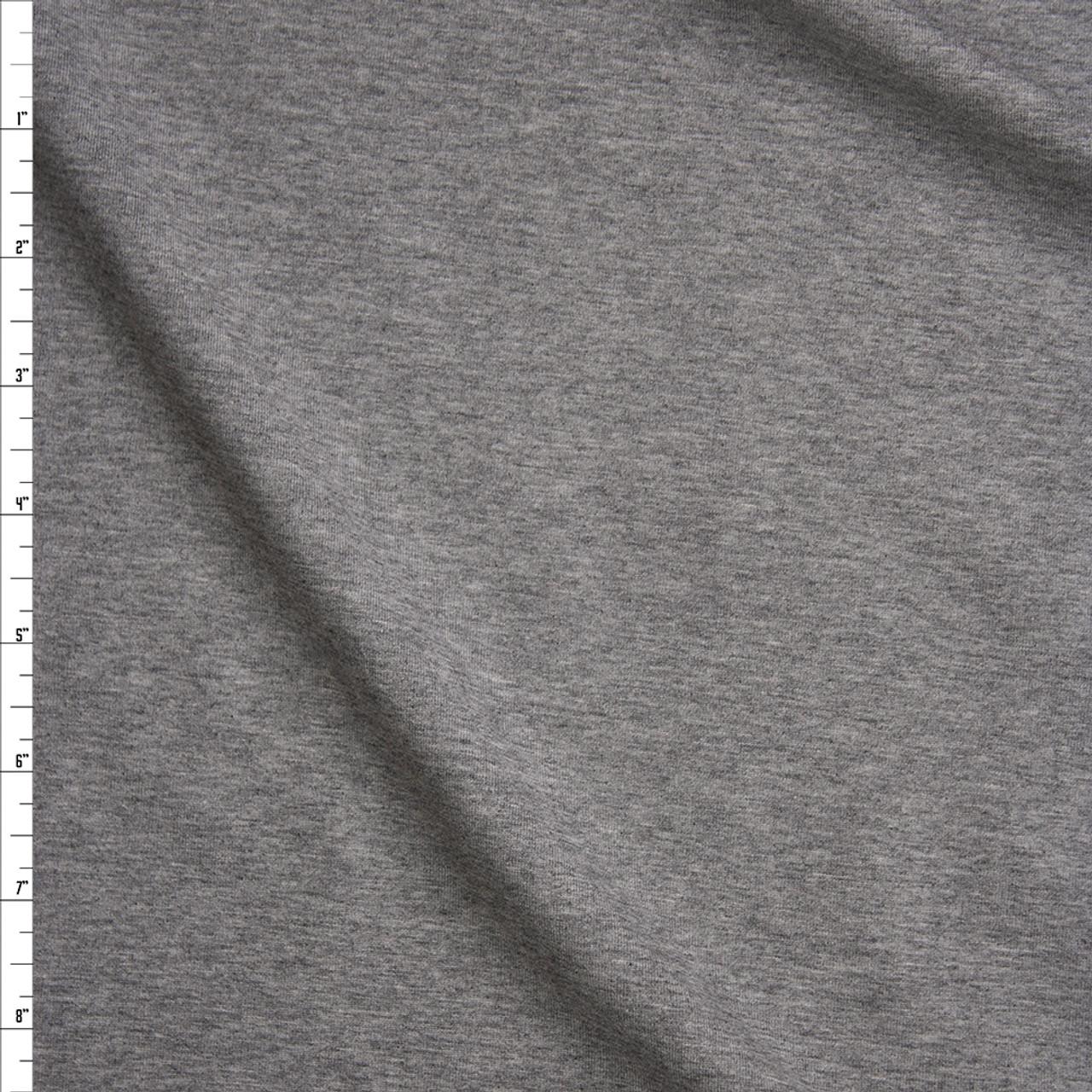 Cali Fabrics Heather Grey Stretch Midweight Cotton Jersey Knit