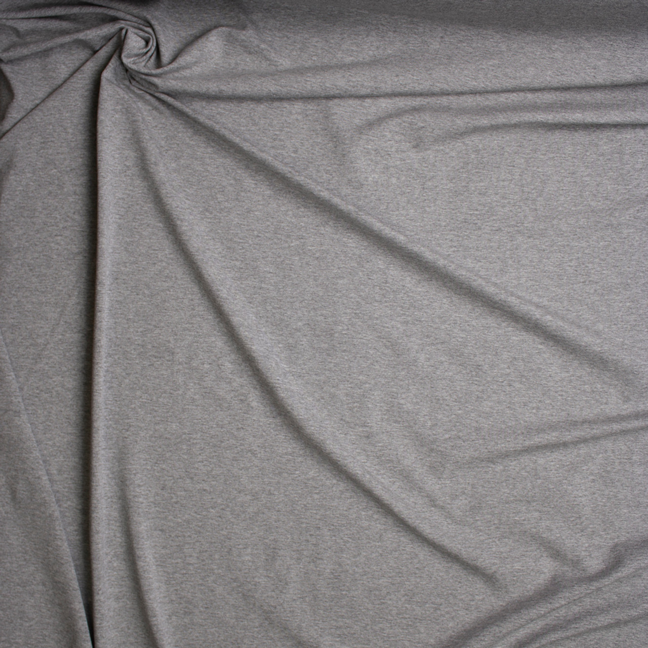 47017910008 ... Heather Grey Stretch Midweight Cotton Jersey Knit Fabric By The Yard - Wide  shot