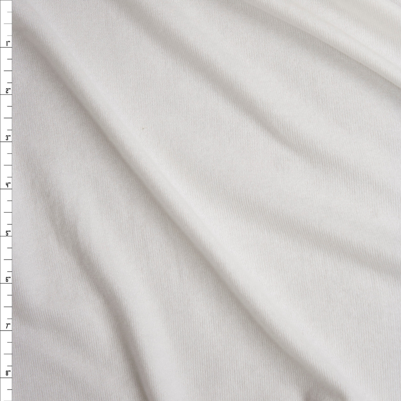 65c6712a58c Cali Fabrics White Brushed Stretch Sweater Knit Fabric by the Yard