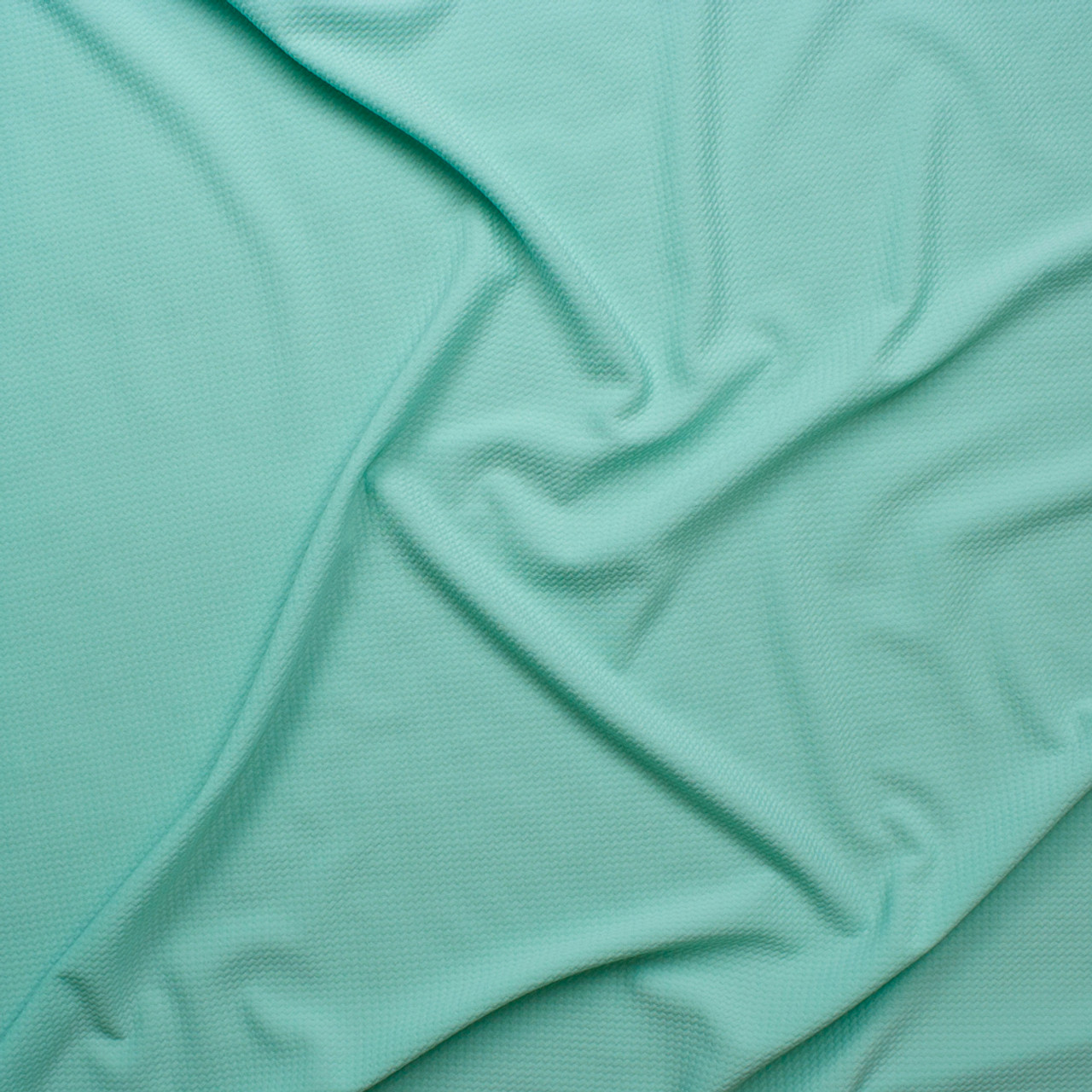 1dfbc4d512 ... Solid Mint Green Bullet Texture Liverpool Knit Fabric By The Yard -  Wide shot