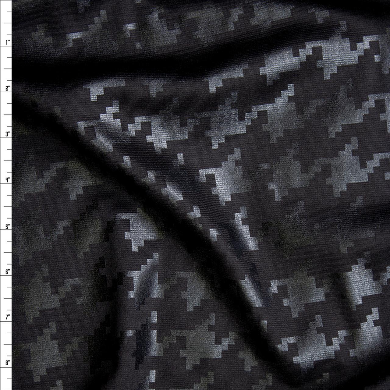 6437a5a616c Cali Fabrics Black Gloss Houndstooth on Black Ponte De Roma Fabric ...