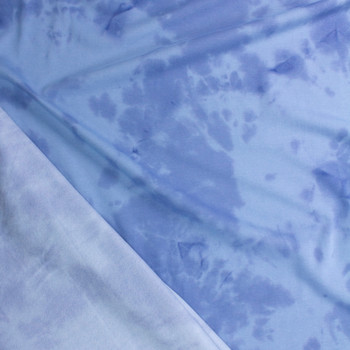 Light Blue Tie Dye Midweight Sweatshirt Fleece Fabric By The Yard - Wide shot