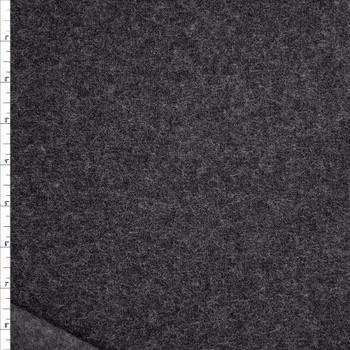 Charcoal Wooly Sweatshirt Fleece Fabric By The Yard