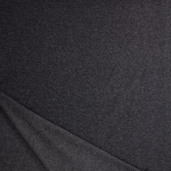 Charcoal Wooly Sweatshirt Fleece Fabric By The Yard - Wide shot