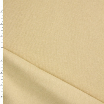Antique Ivory Solid Midweight Non-Stretch Sweatshirt Fleece Fabric By The Yard