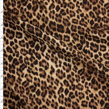 Cheetah Print Lightweight Cotton Jersey Fabric By The Yard