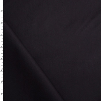 Black Stretch Cotton Poplin Fabric By The Yard