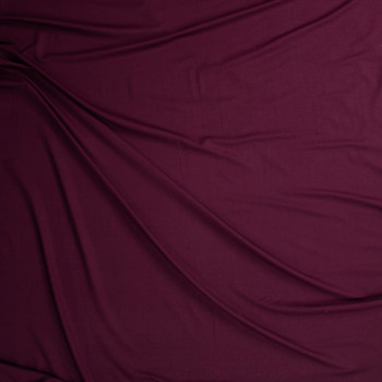 Burgundy Stretch Designer Rayon/Spandex Jersey Fabric By The Yard - Wide shot