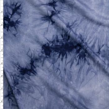 Ocean Mist Tie Dye Rayon Jersey Knit Fabric By The Yard