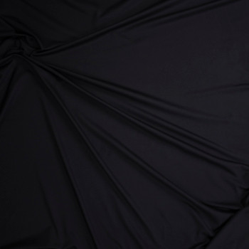 Black Poly/Spandex Midweight Athletic Knit Fabric By The Yard - Wide shot