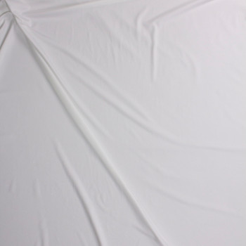 Offwhite Poly/Spandex Midweight Athletic Knit Fabric By The Yard - Wide shot