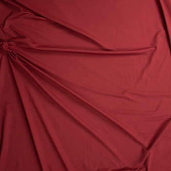 Brick Red Brushed Tactel Midweight Athletic Knit Fabric By The Yard - Wide shot
