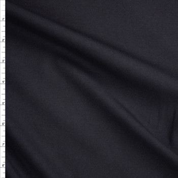 Black Midweight Cotton Micro Ribbing Fabric By The Yard