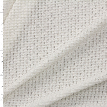 Warm White Chunky Waffle Knit Fabric By The Yard