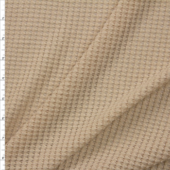 Tan Chunky Waffle Knit Fabric By The Yard