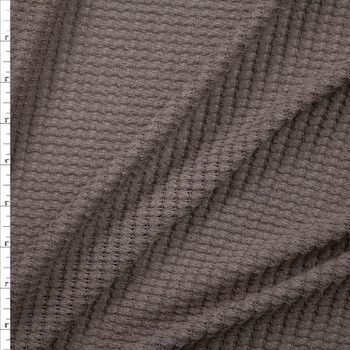 Taupe Chunky Waffle Knit Fabric By The Yard