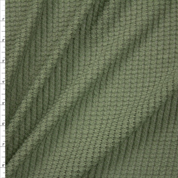 Sage Green Chunky Waffle Knit Fabric By The Yard