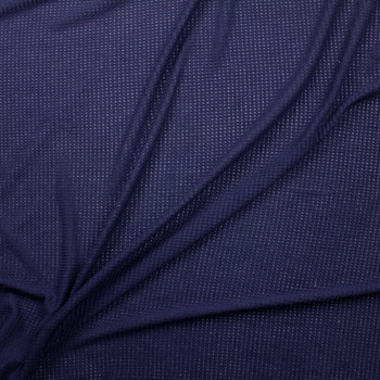 Navy Blue Chunky Waffle Knit Fabric By The Yard - Wide shot