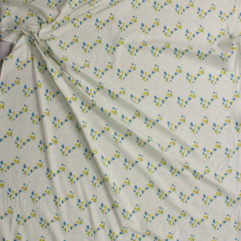 Bous Trail Bluet Cotton/Spandex Knit From 'Art Gallery Fabrics' Fabric By The Yard - Wide shot