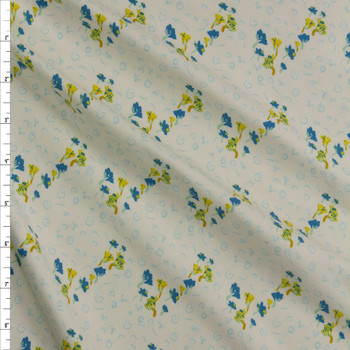 Bous Trail Bluet Cotton/Spandex Knit From 'Art Gallery Fabrics' Fabric By The Yard