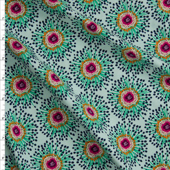Clover Field Cotton/Spandex Knit From 'Art Gallery Fabrics' Fabric By The Yard