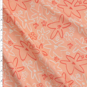 Forget Me Not Romance Cotton/Spandex Knit From 'Art Gallery Fabrics' Fabric By The Yard