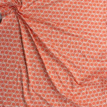 Apricot Yogurt Cotton/Spandex Knit From 'Art Gallery Fabrics' Fabric By The Yard - Wide shot