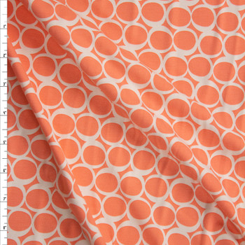 Apricot Yogurt Cotton/Spandex Knit From 'Art Gallery Fabrics' Fabric By The Yard