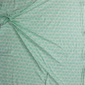 Seafoam Swirls Cotton/Spandex Knit From 'Art Gallery Fabrics' Fabric By The Yard - Wide shot