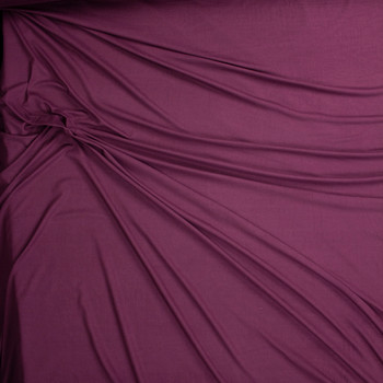 Petit Sirah Solid Double Brushed Poly/Spandex Fabric By The Yard - Wide shot