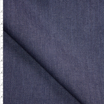 Indigo with Silver Sparkles Midweight Designer Denim from 'True Religion' Fabric By The Yard