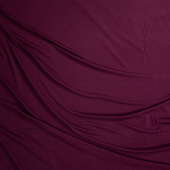 Wine Lightweight Bamboo French Terry Fabric By The Yard - Wide shot