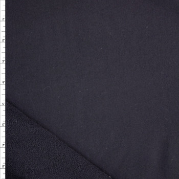Black Midweight Cotton French Terry Fabric By The Yard