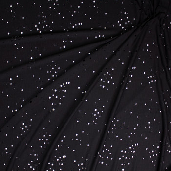 Black Holey Rayon French Terry Fabric By The Yard - Wide shot