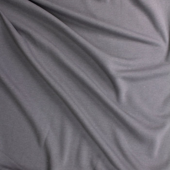 Medium Grey Midweight Extra Wide Poly Sweatshirt Fleece Fabric By The Yard - Wide shot