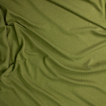 Olive Green Midweight Extra Wide Poly Sweatshirt Fleece Fabric By The Yard - Wide shot