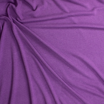 Purple Heather Midweight Extra Wide Poly Sweatshirt Fleece Fabric By The Yard - Wide shot