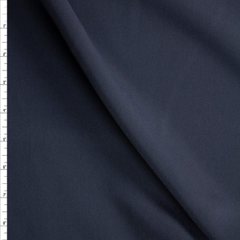 Navy Stretch Twill Suiting Fabric By The Yard