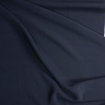 Navy Stretch Twill Suiting Fabric By The Yard - Wide shot