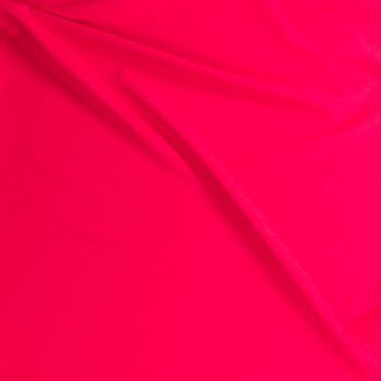 Neon Coral Stretch Twill Suiting Fabric By The Yard - Wide shot