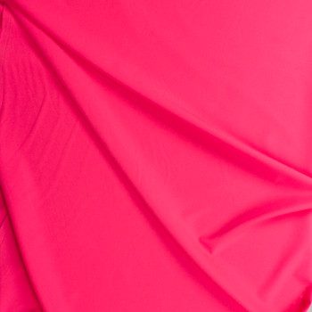 Neon Pink Stretch Twill Suiting Fabric By The Yard - Wide shot