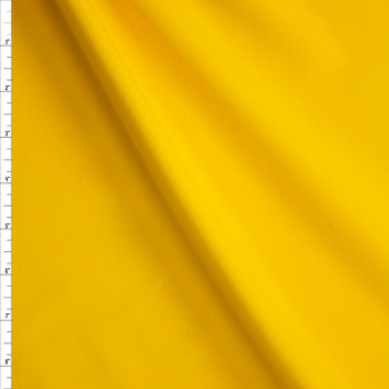 Bright Yellow Stretch Twill Suiting Fabric By The Yard