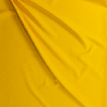 Bright Yellow Stretch Twill Suiting Fabric By The Yard - Wide shot