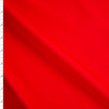 Red Stretch Twill Suiting Fabric By The Yard
