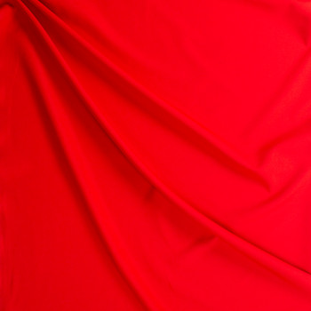 Red Stretch Twill Suiting Fabric By The Yard - Wide shot