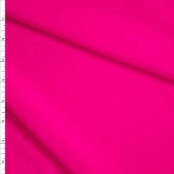 Neon Pink Stretch Lightweight Crepe Suiting Fabric By The Yard